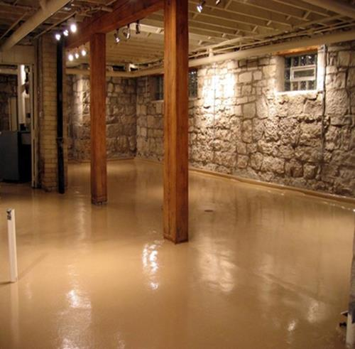 Basement Concrete Floor Paint Color Ideas 5