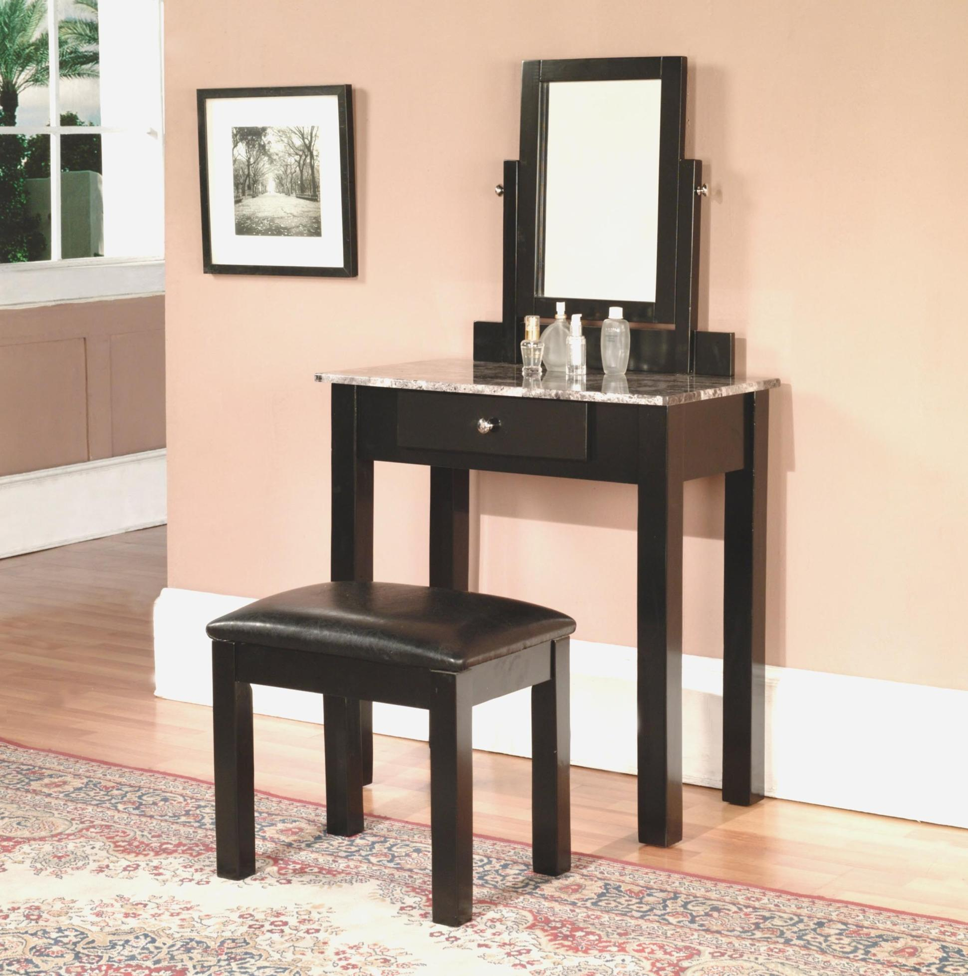 Bedroom Vanity Set With Lights Around Mirror 24