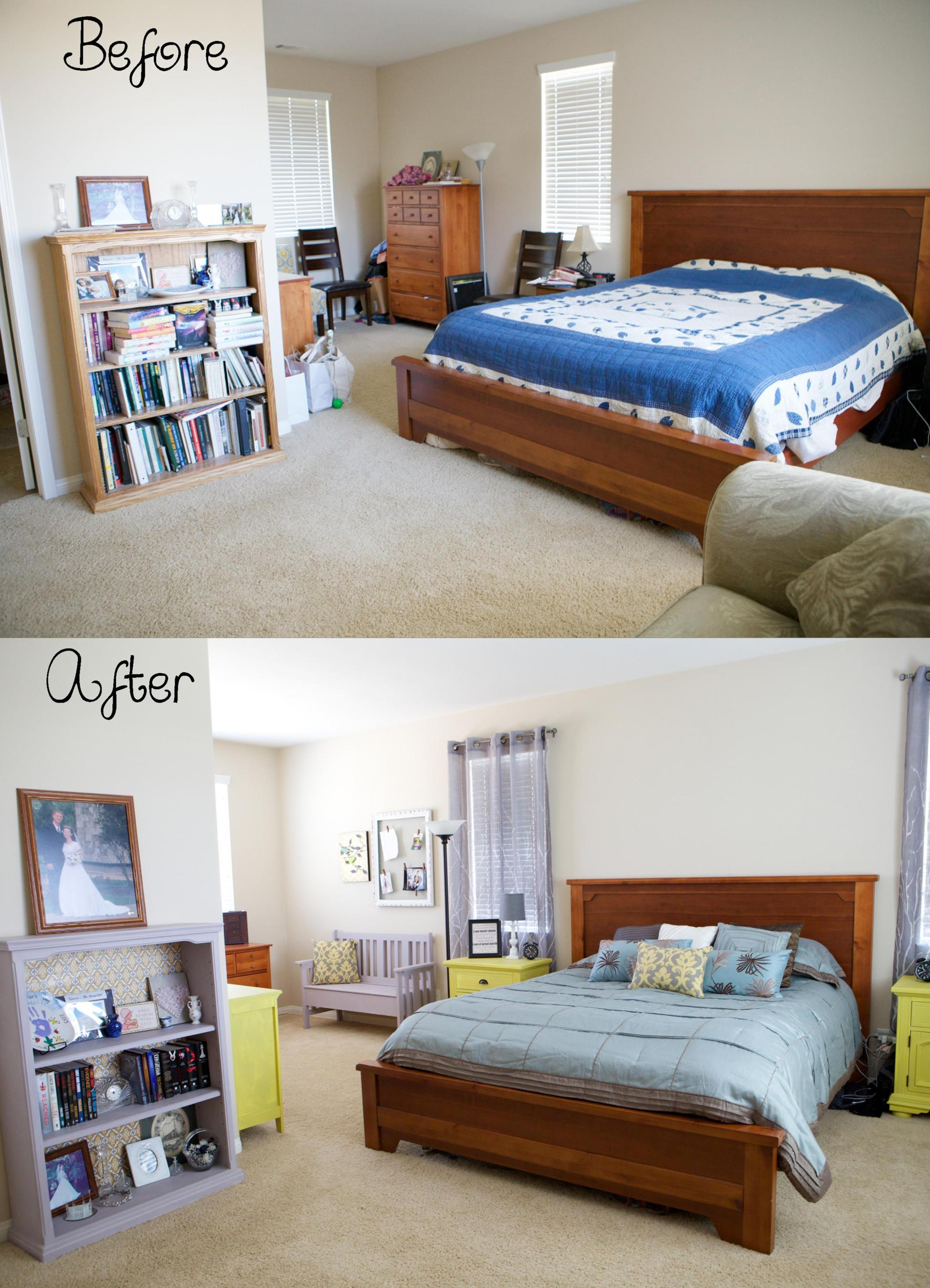 DIY Small Bedroom Makeover On a Budget 5