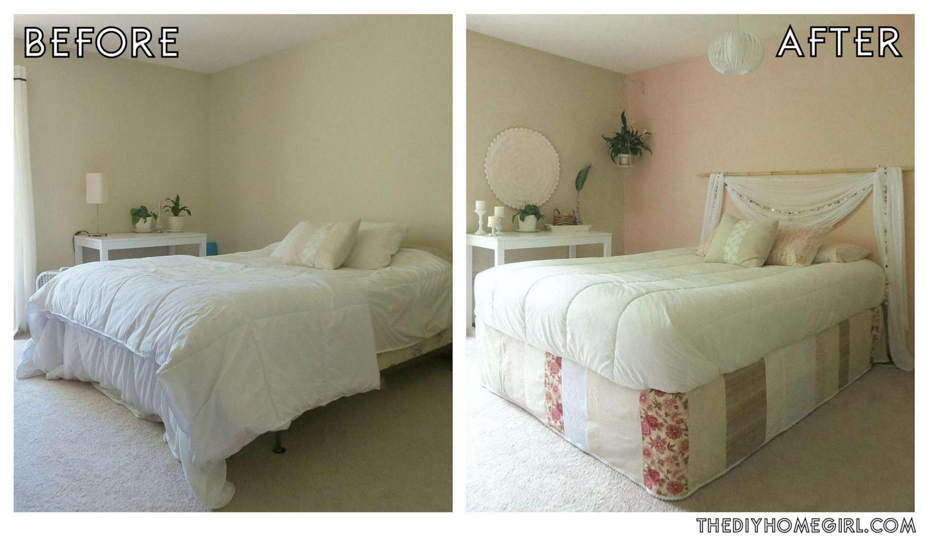 DIY Small Bedroom Makeover On a Budget 7