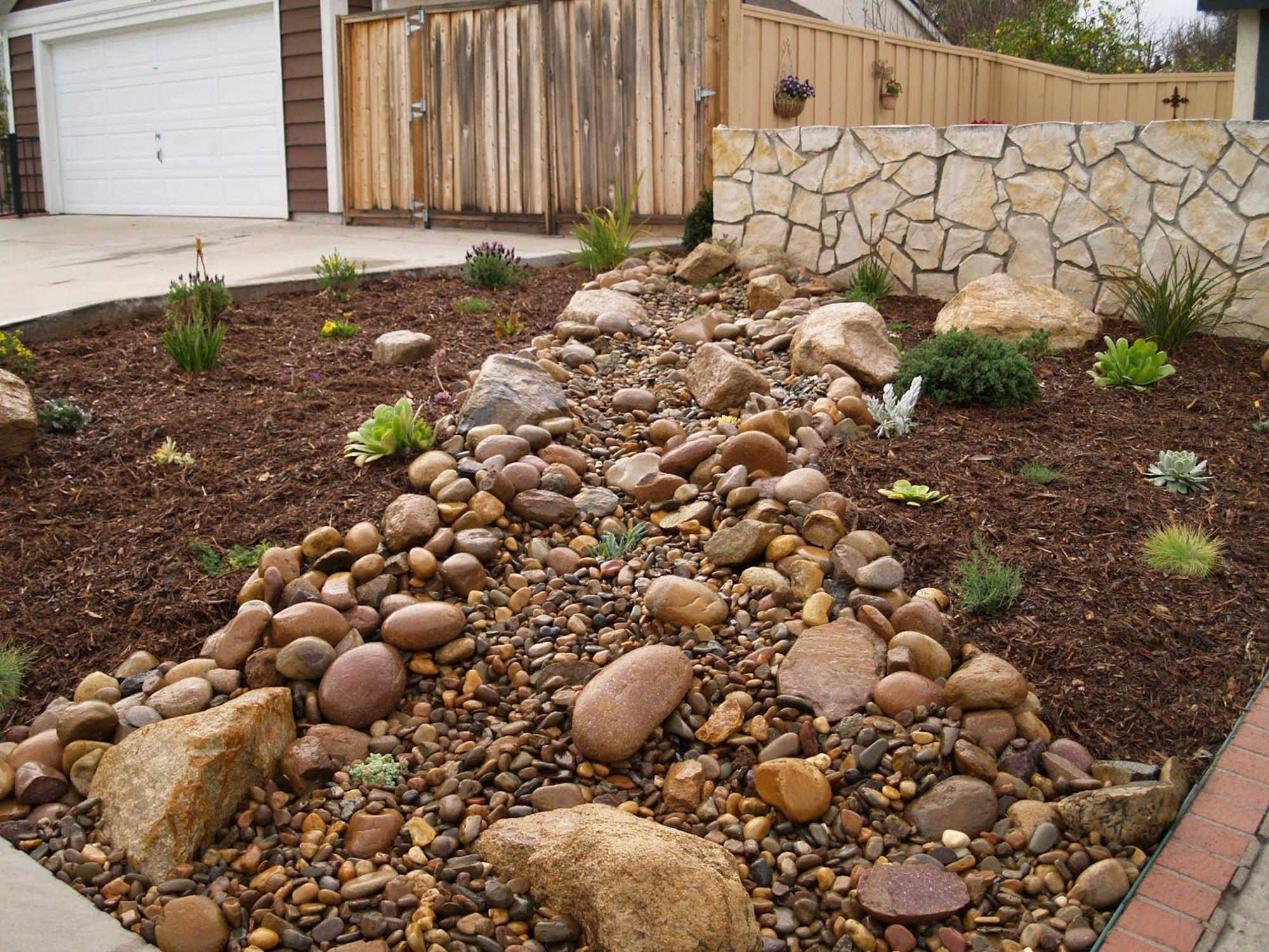 Landscaping Ideas With Rocks And Mulch 11