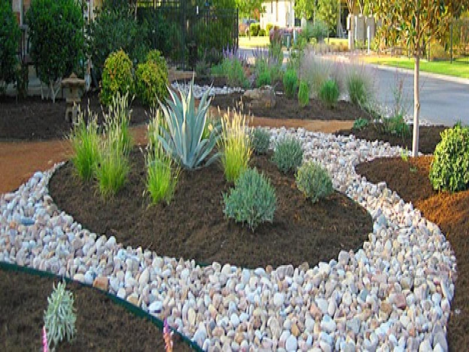 Landscaping Ideas With Rocks And Mulch 2