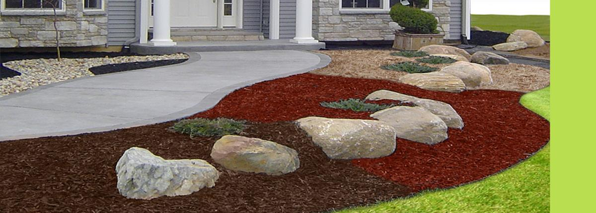 Landscaping Ideas With Rocks And Mulch 3