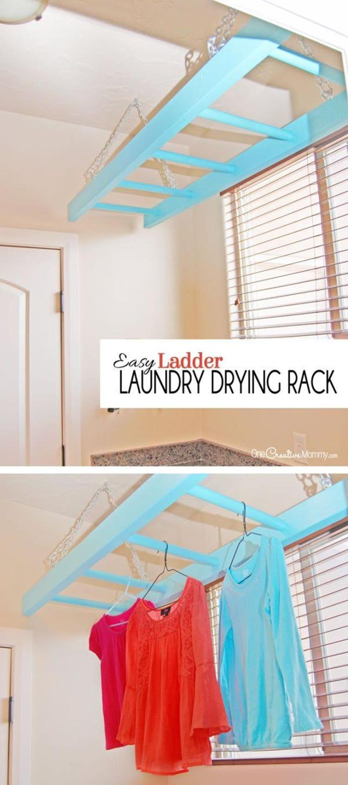 Laundry Room Hanging Rack Ideas 13