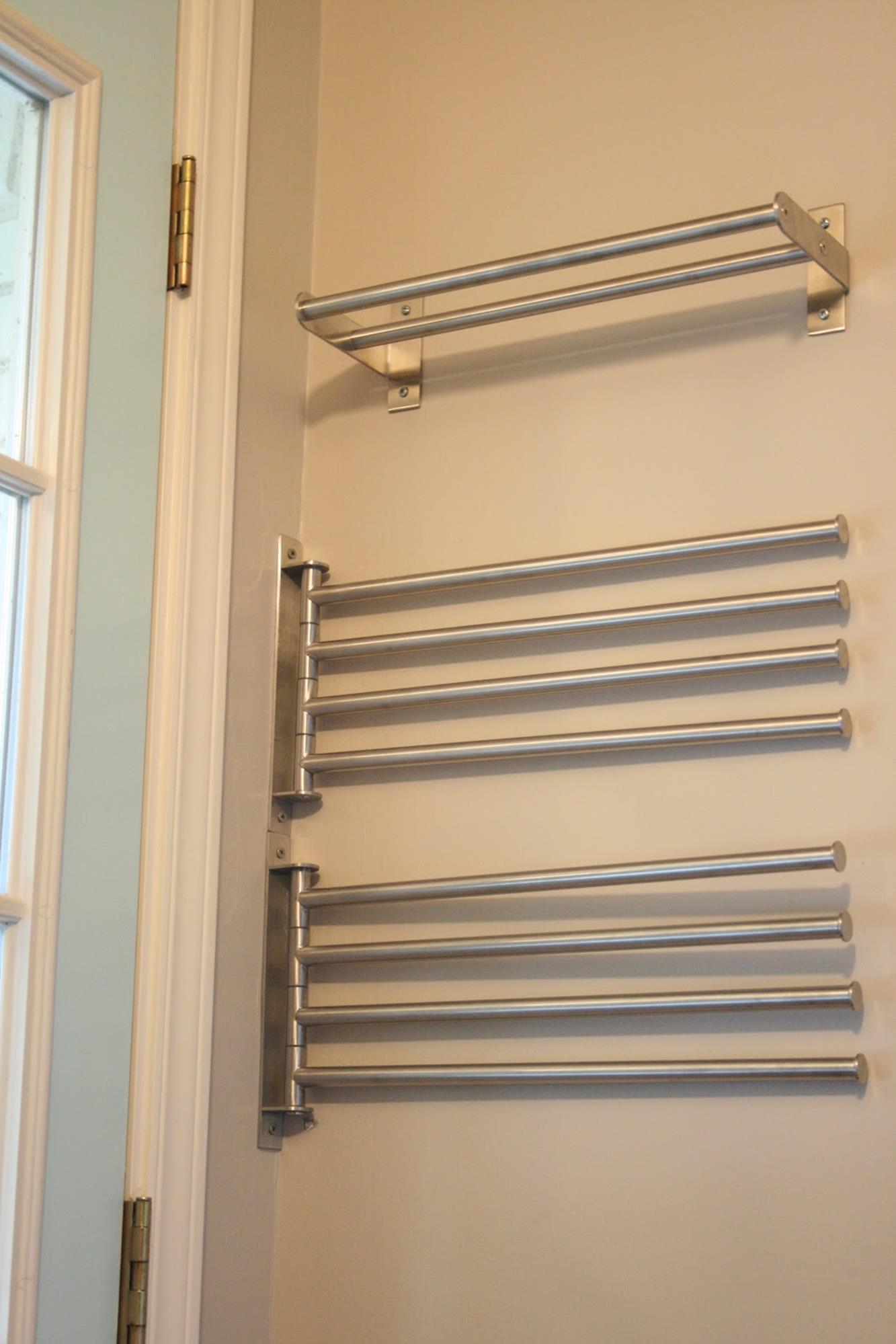 Laundry Room Hanging Rack Ideas 19
