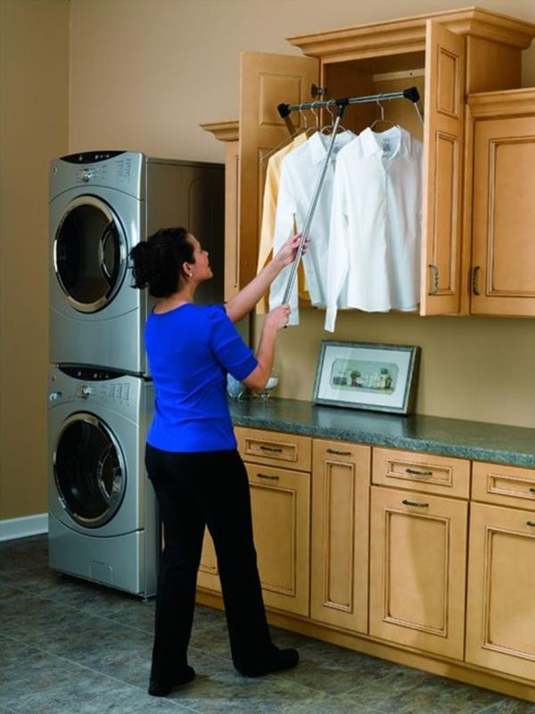 Laundry Room Hanging Rack Ideas 27