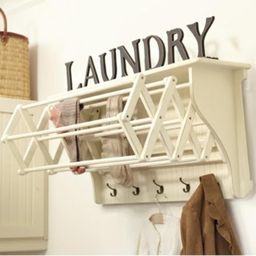 Laundry Room Hanging Rack Ideas 30