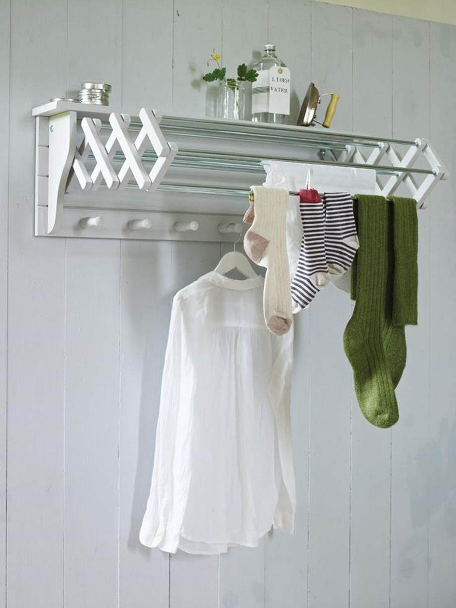 Laundry Room Hanging Rack Ideas 6