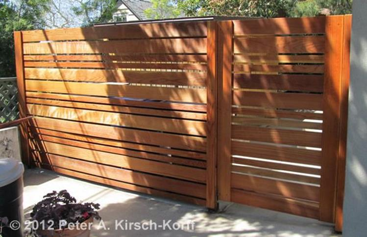Modern Wood Fence Design Ideas 11