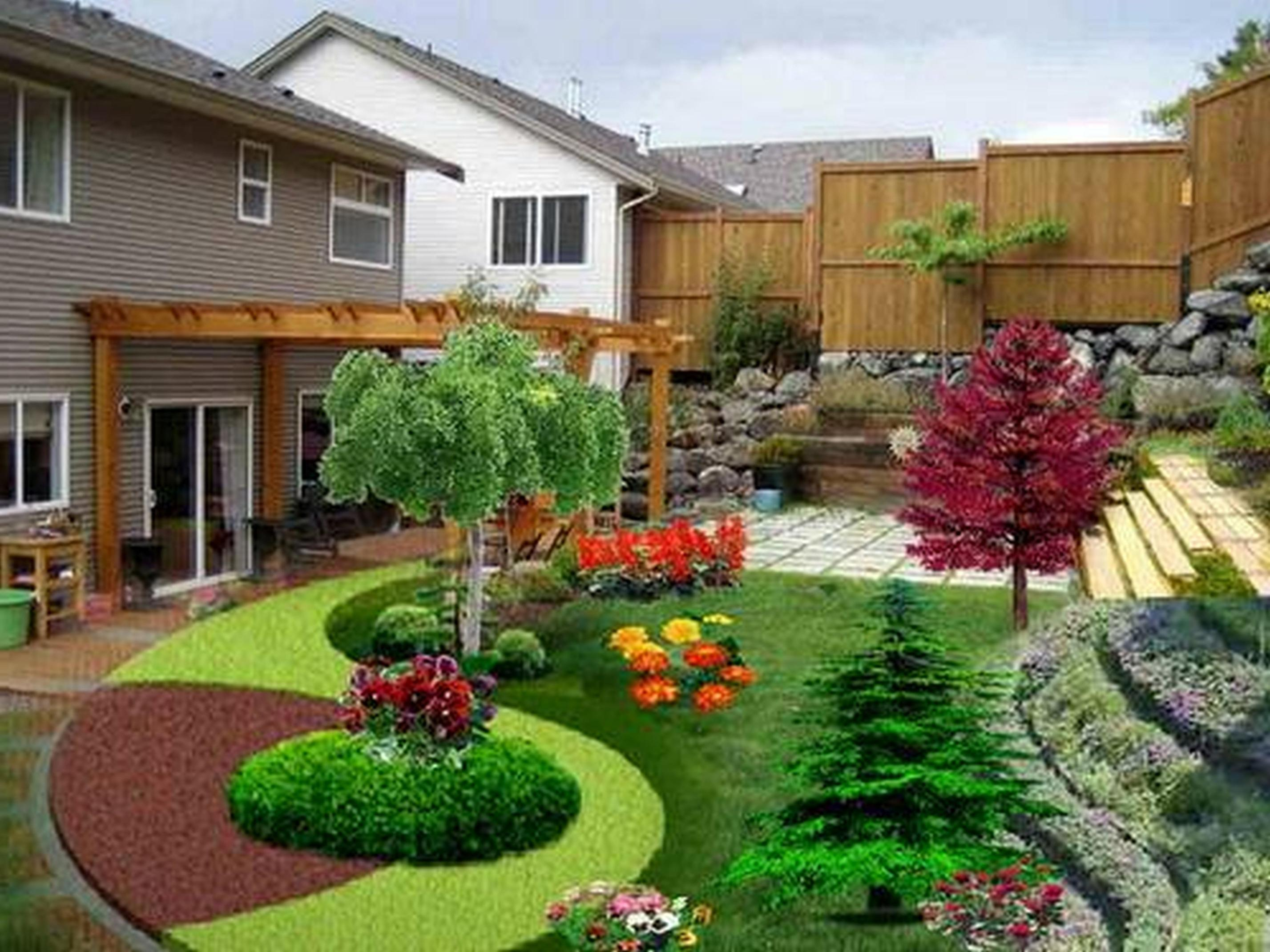 Perfcet Easy Garden Landscaping Design Ideas 35