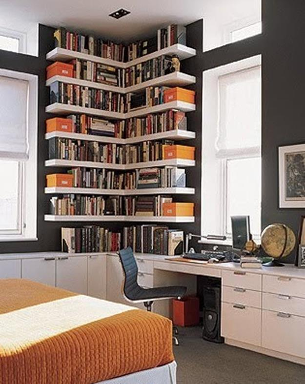 Perfect Bookshelves For Small Spaces and Decor Ideas 17