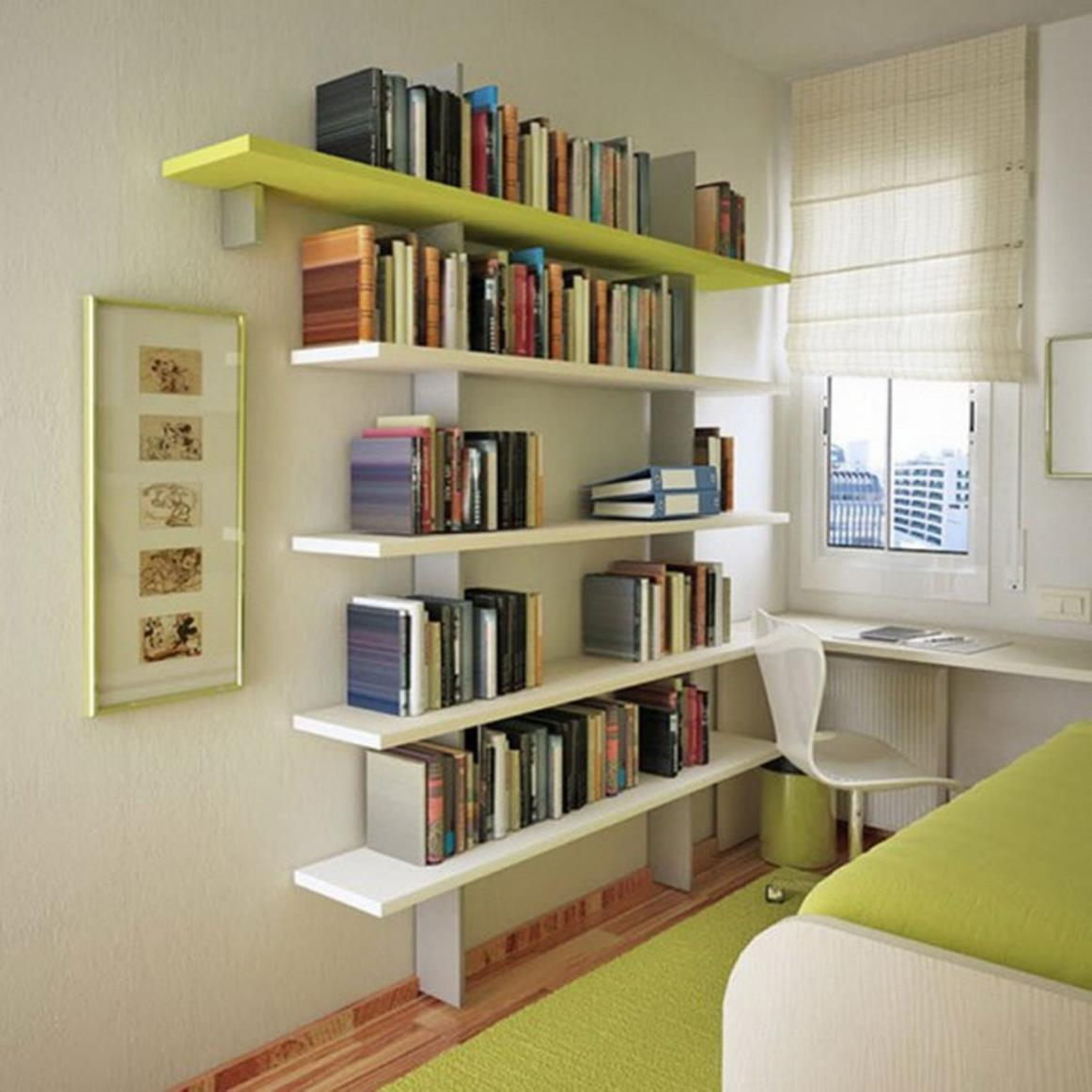 Perfect Bookshelves For Small Spaces and Decor Ideas 2