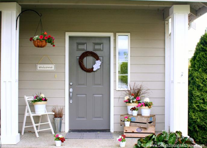 Spring Garden Decorating Ideas for Front Porch 3