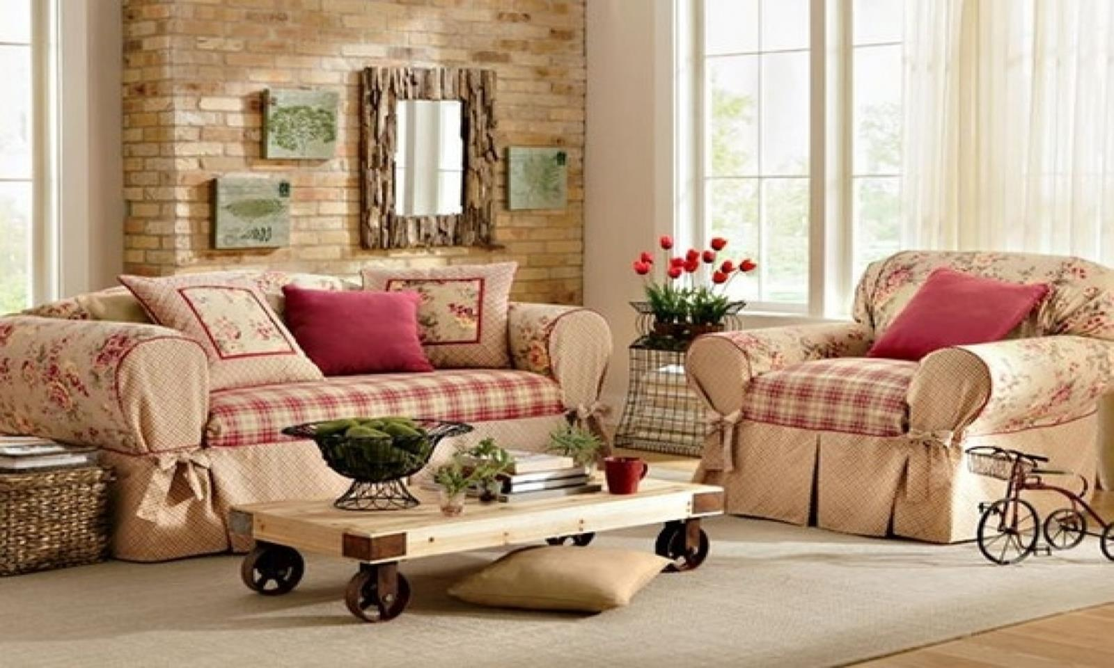 Country Style Living Room Decorating Ideas 26