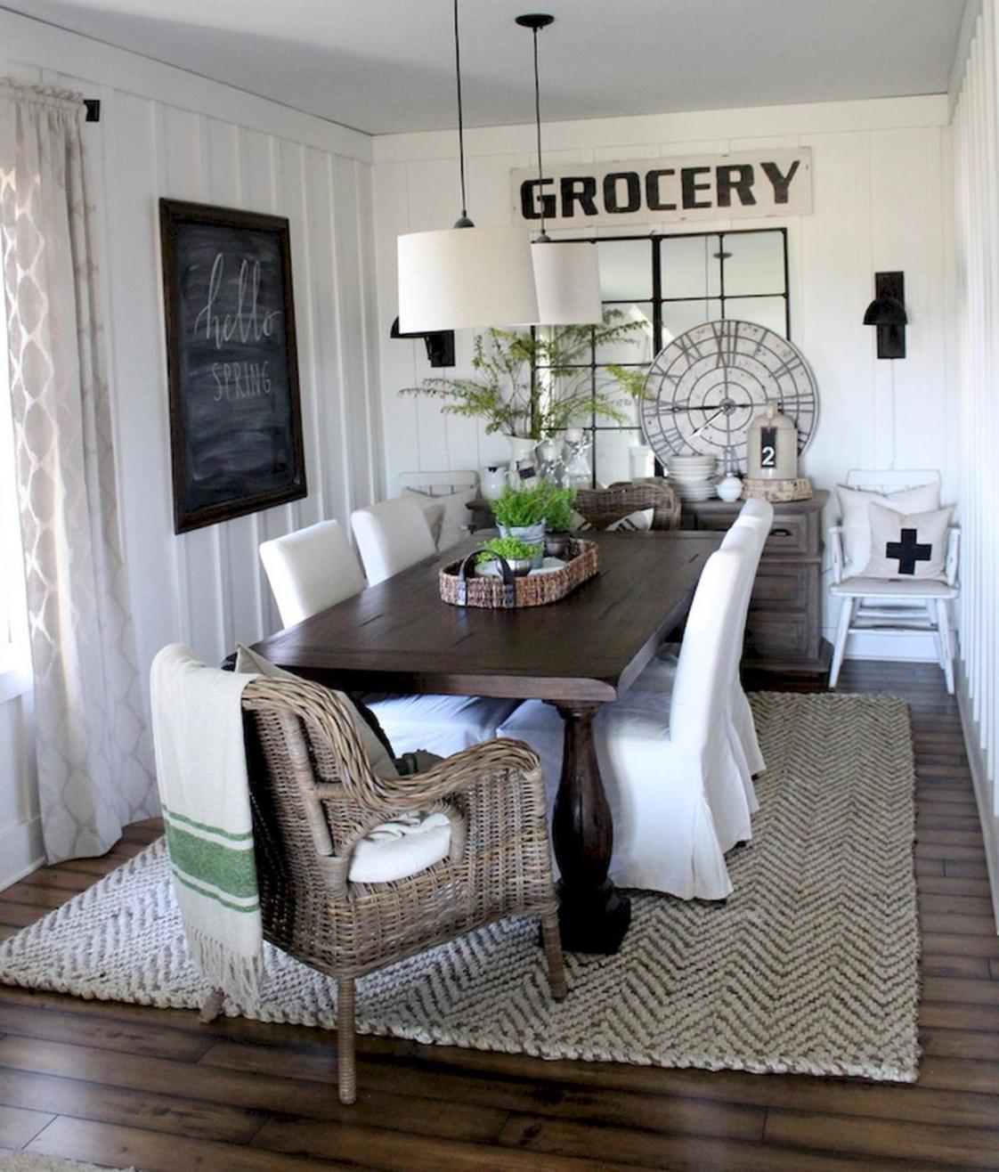 Farmhouse Dining Room Decorating Ideas 34