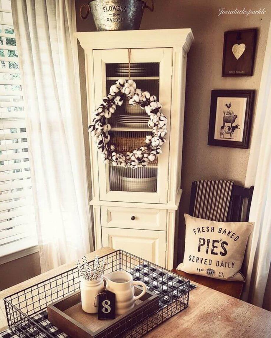 Farmhouse Dining Room Decorating Ideas 4