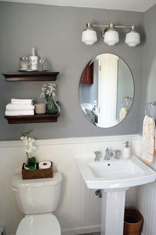 Gray Half Bathroom Decorating Ideas On A Budget 1