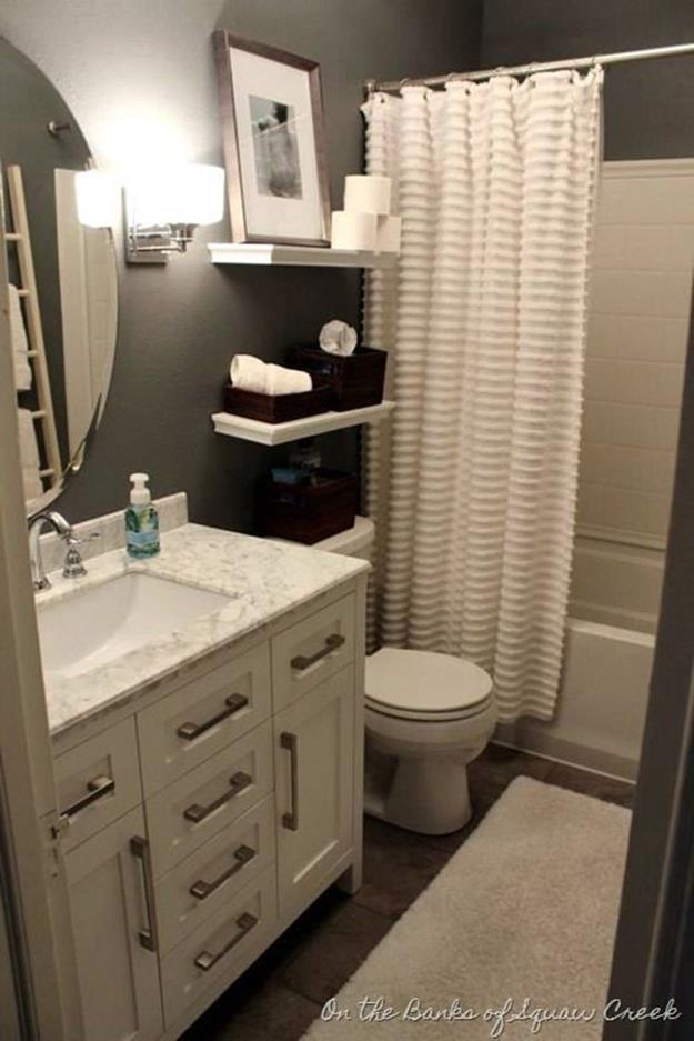 Gray Half Bathroom Decorating Ideas On A Budget 12