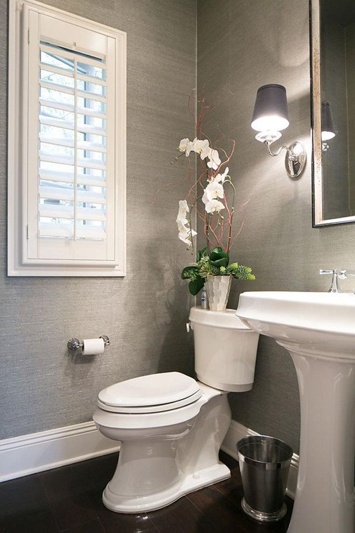 Gray Half Bathroom Decorating Ideas On A Budget 13