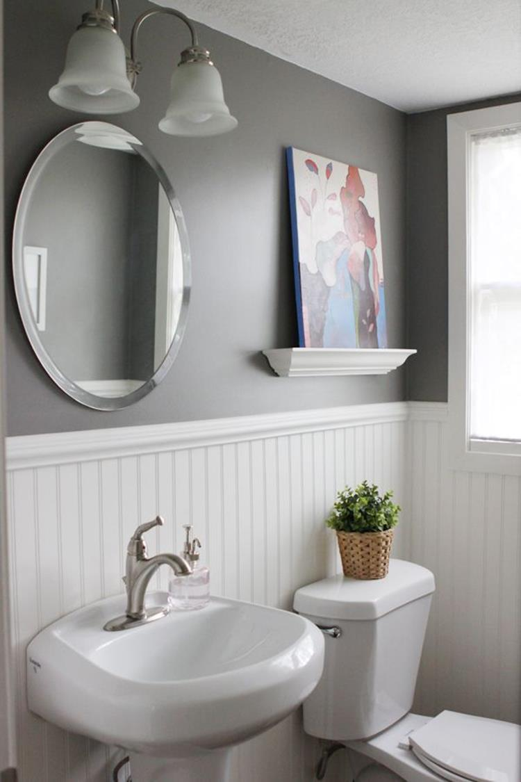 Gray Half Bathroom Decorating Ideas On A Budget 17