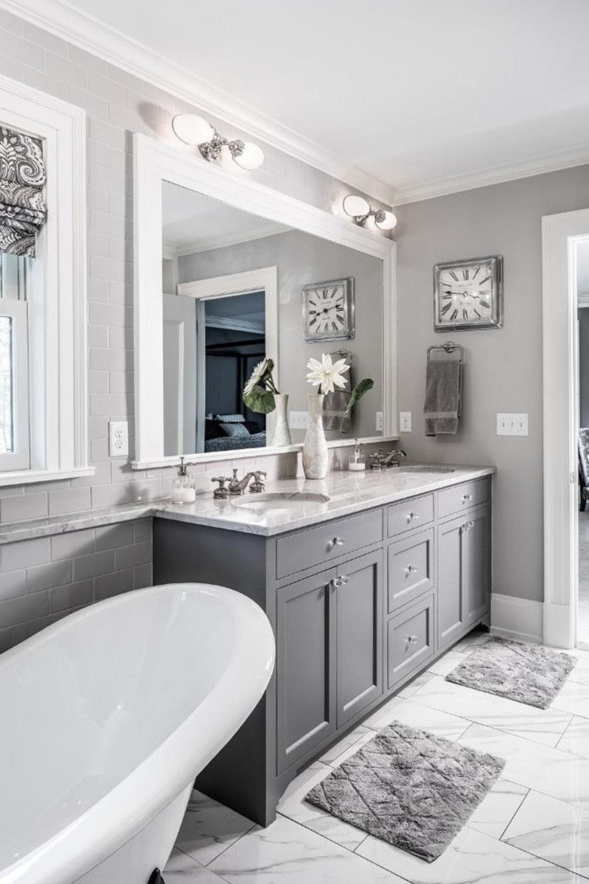 Gray Half Bathroom Decorating Ideas On A Budget 21