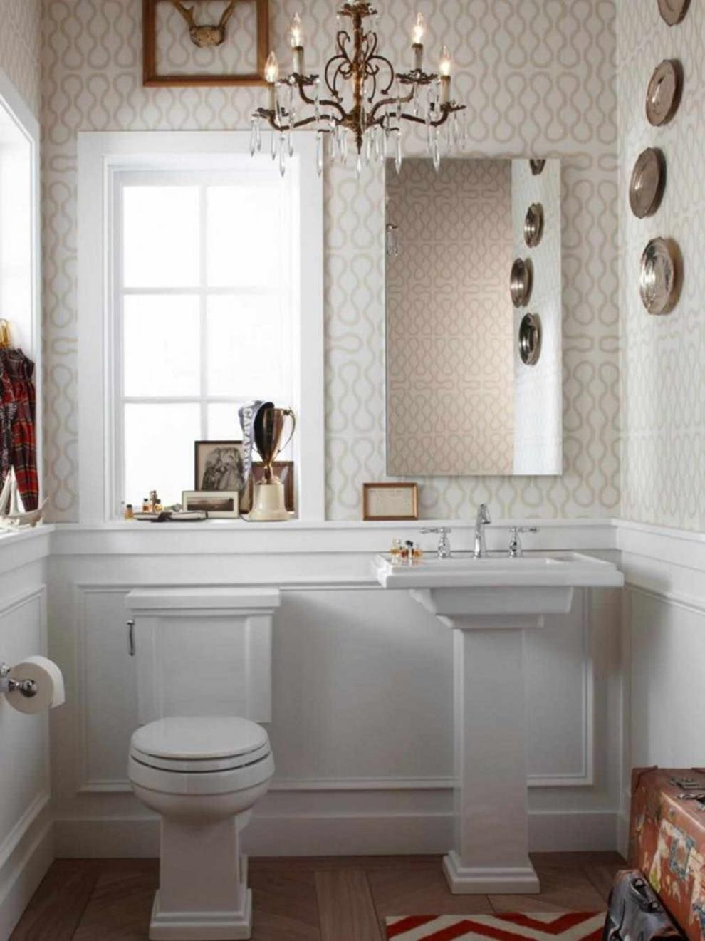 Gray Half Bathroom Decorating Ideas On A Budget 22