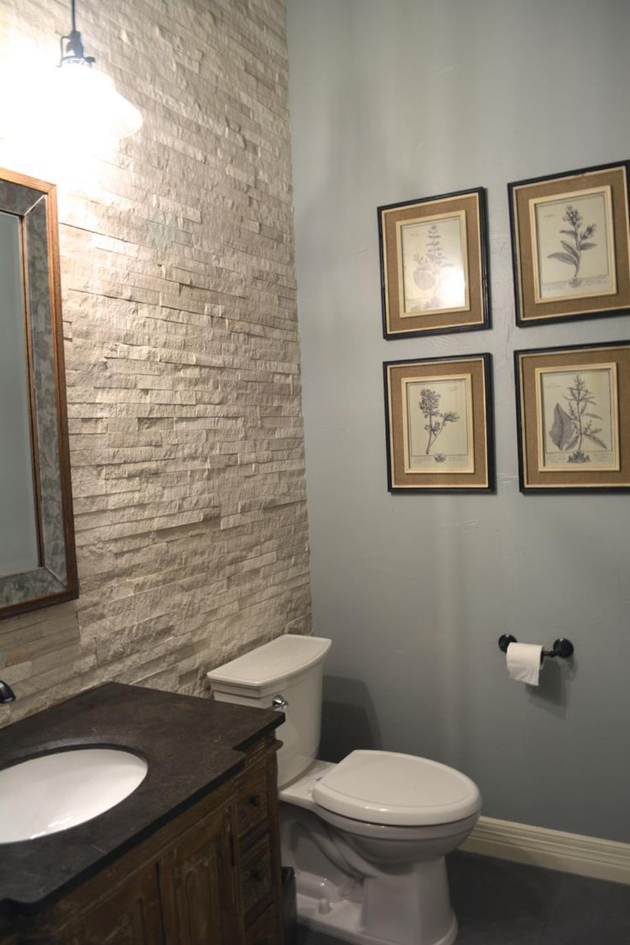 Gray Half Bathroom Decorating Ideas On A Budget 23