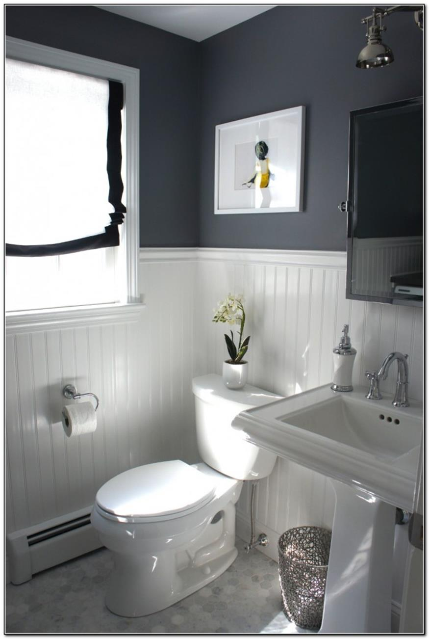 40 Perfect Gray Half Bathroom Decorating Ideas On A Budget - Gongetech