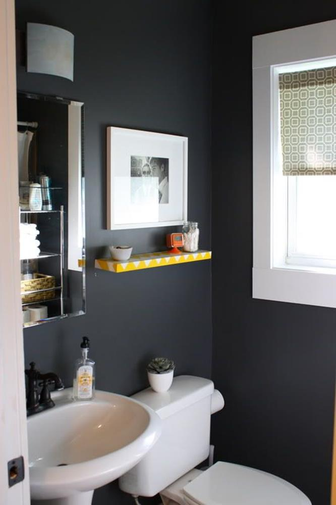 Gray Half Bathroom Decorating Ideas On A Budget 27