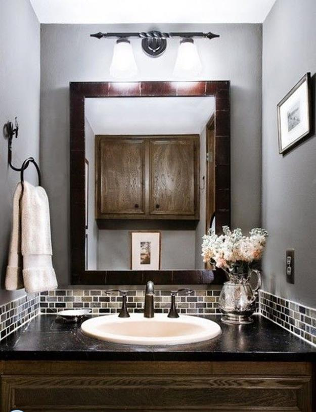 Gray Half Bathroom Decorating Ideas On A Budget 31