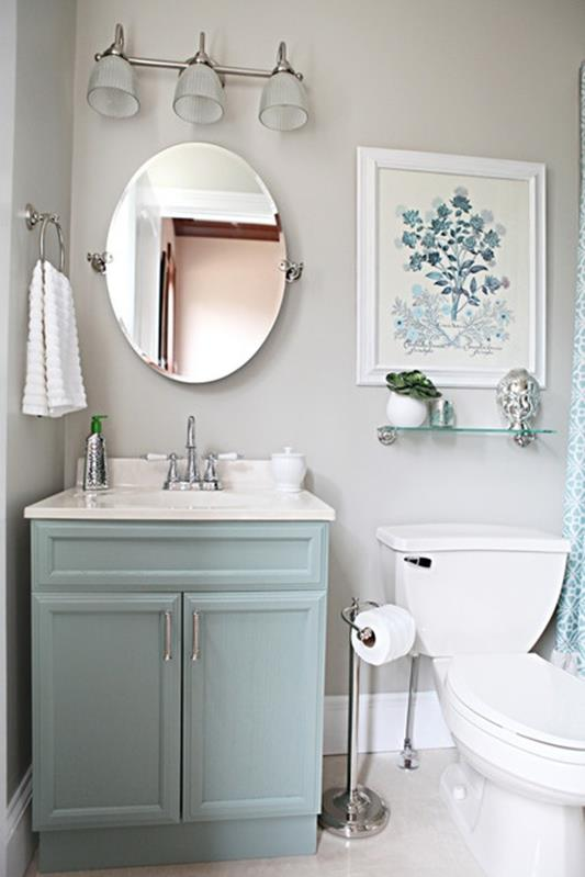 Gray Half Bathroom Decorating Ideas On A Budget 32