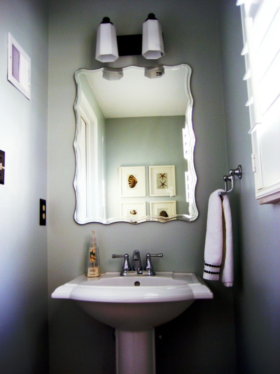 Gray Half Bathroom Decorating Ideas On A Budget 35