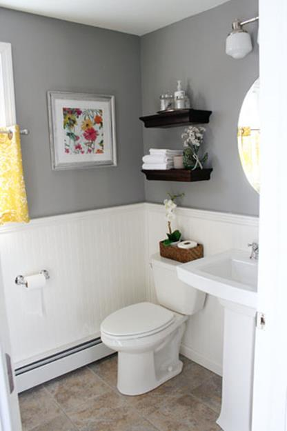 Gray Half Bathroom Decorating Ideas On A Budget 38