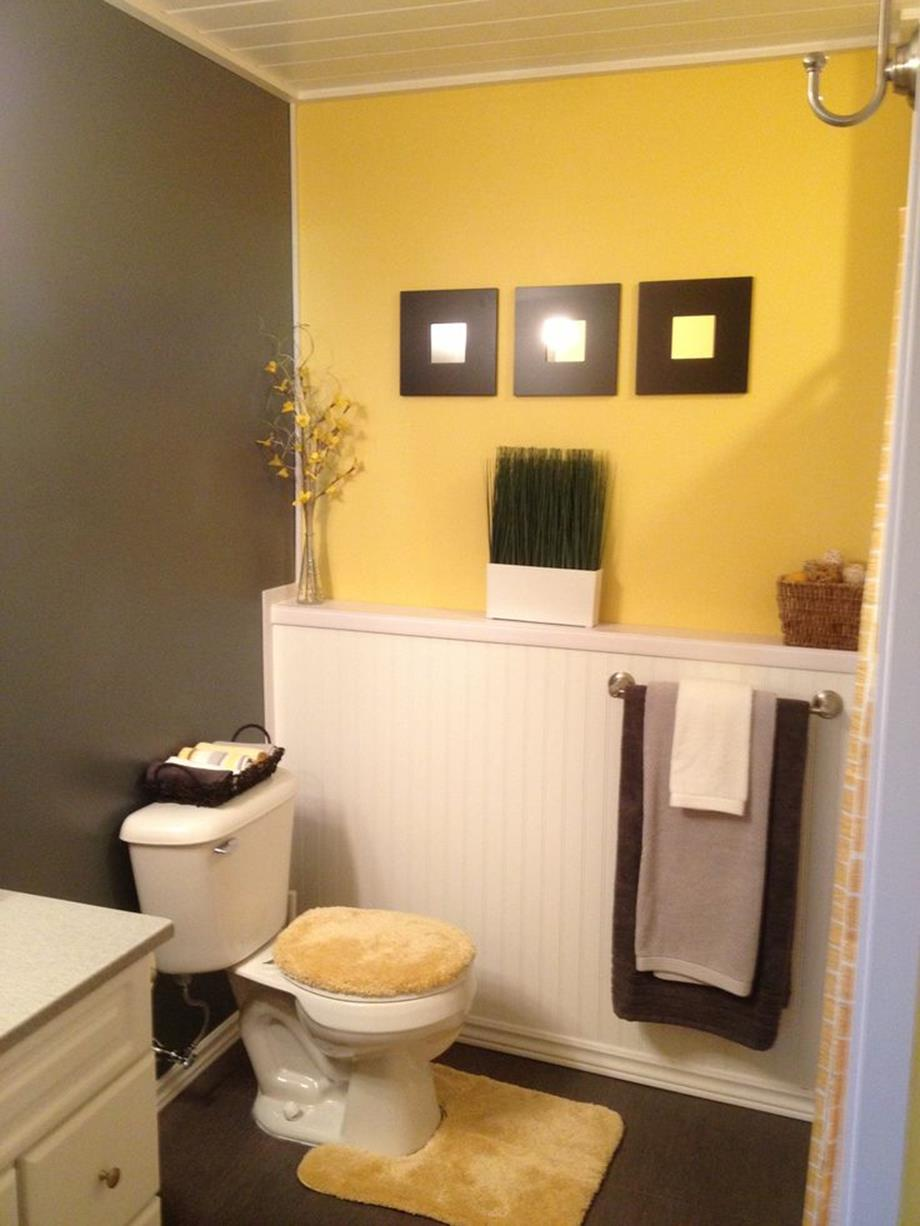 Gray Half Bathroom Decorating Ideas On A Budget 5