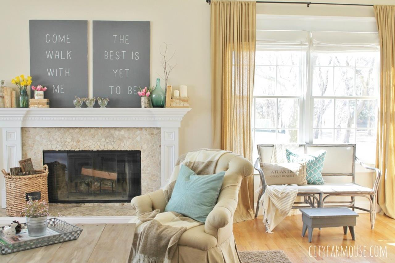 Spring Farmhouse Decorating Ideas 27