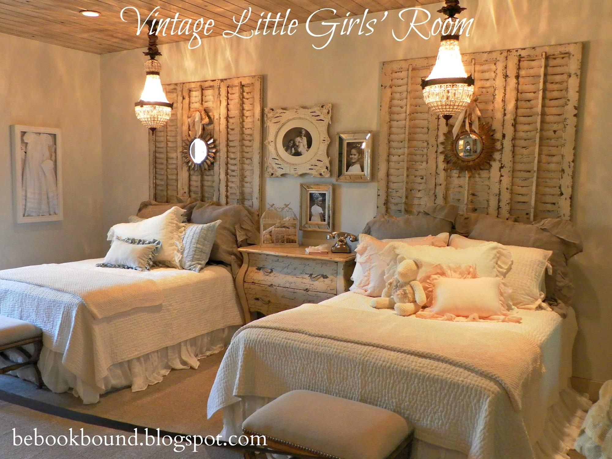 Vintage Girl Bedroom Decorating Ideas 23