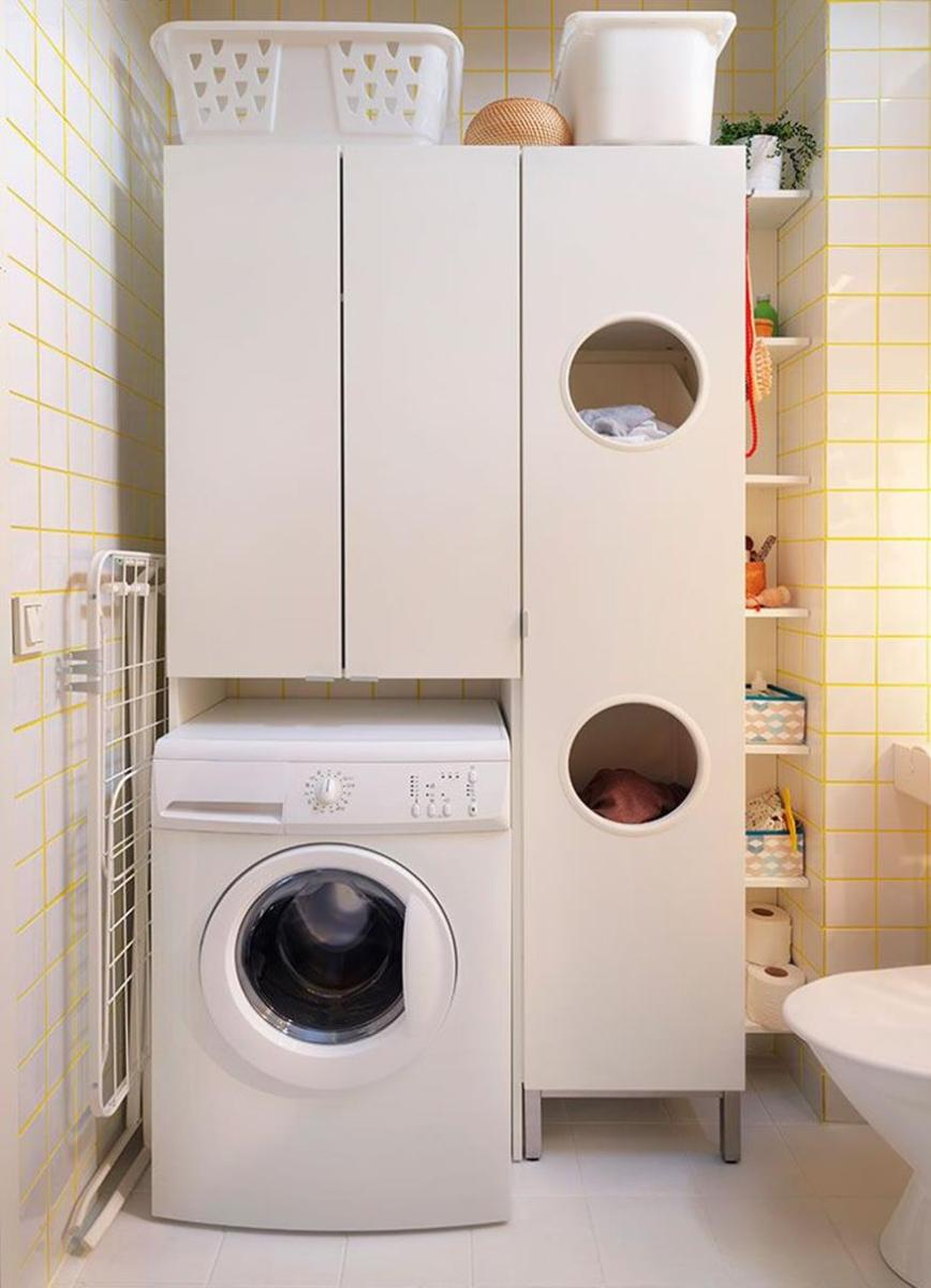 Best Cheap IKEA Cabinets Laundry Room Storage Ideas 1