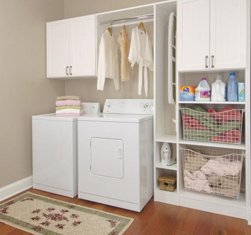 Best Cheap IKEA Cabinets Laundry Room Storage Ideas 15