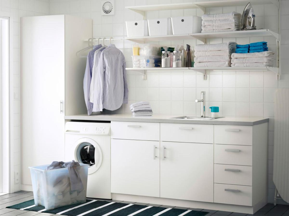 Best Cheap IKEA Cabinets Laundry Room Storage Ideas 4