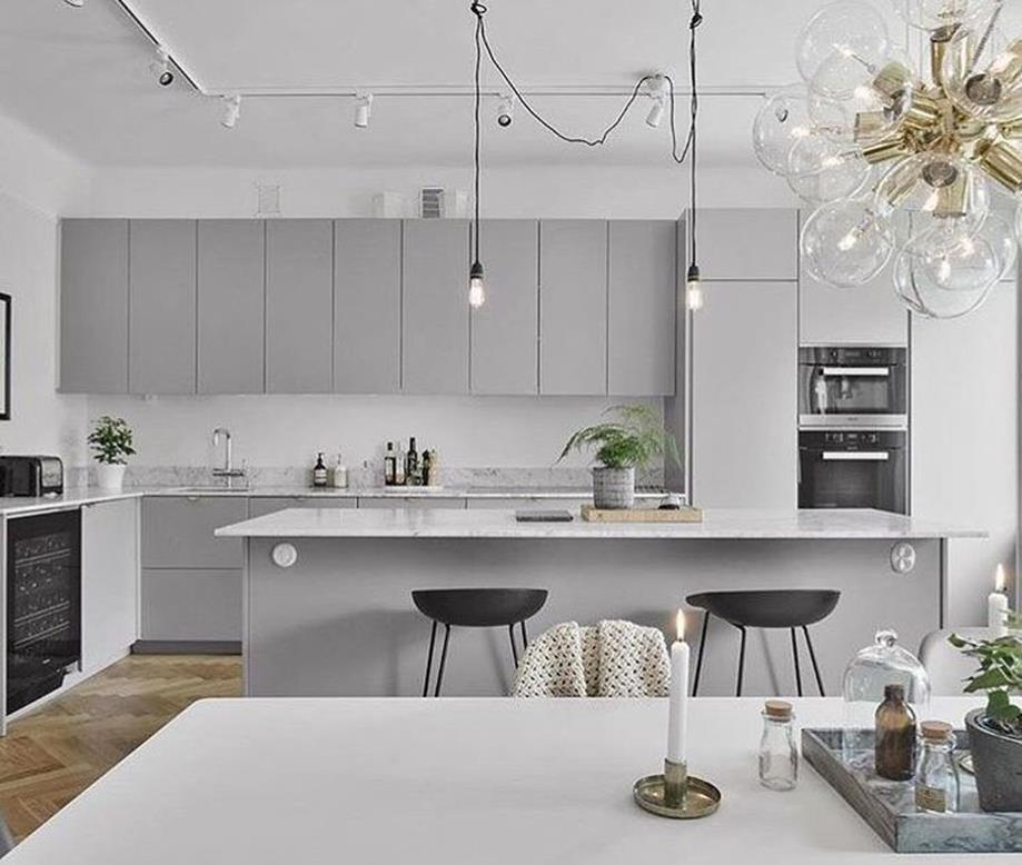 Light Grey Kitchen Cabinets Ideas 24