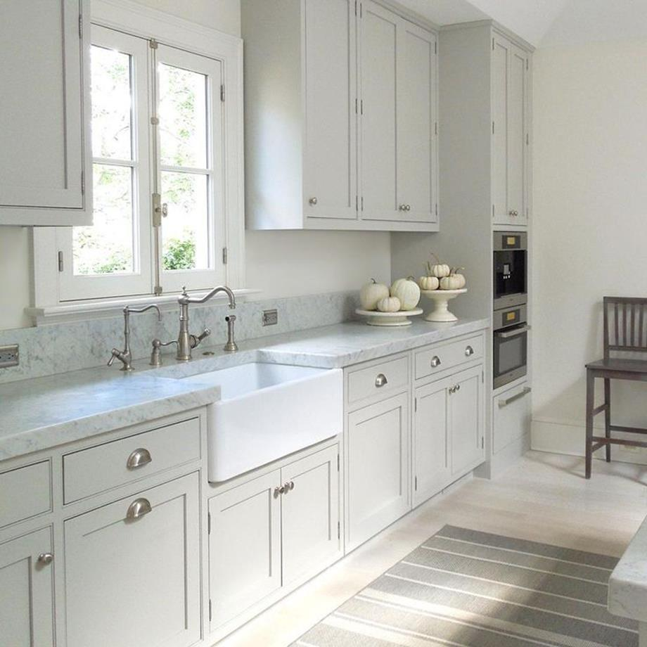 Light Grey Kitchen Cabinets Ideas 8
