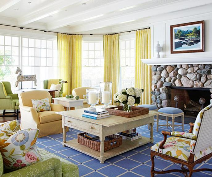 Yellow Cottage Living Room Decorating Ideas 11