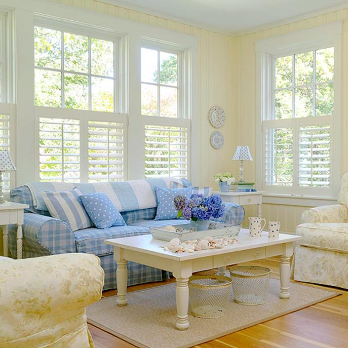 Yellow Cottage Living Room Decorating Ideas 13