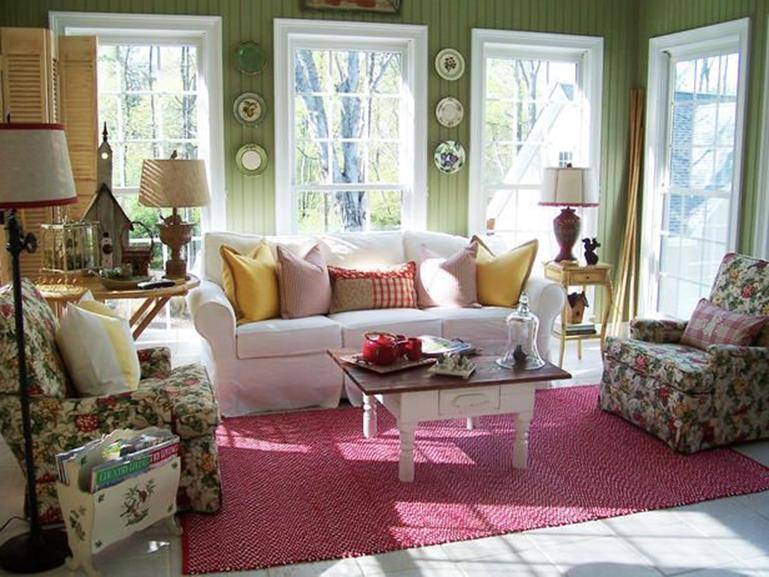 Yellow Cottage Living Room Decorating Ideas 17