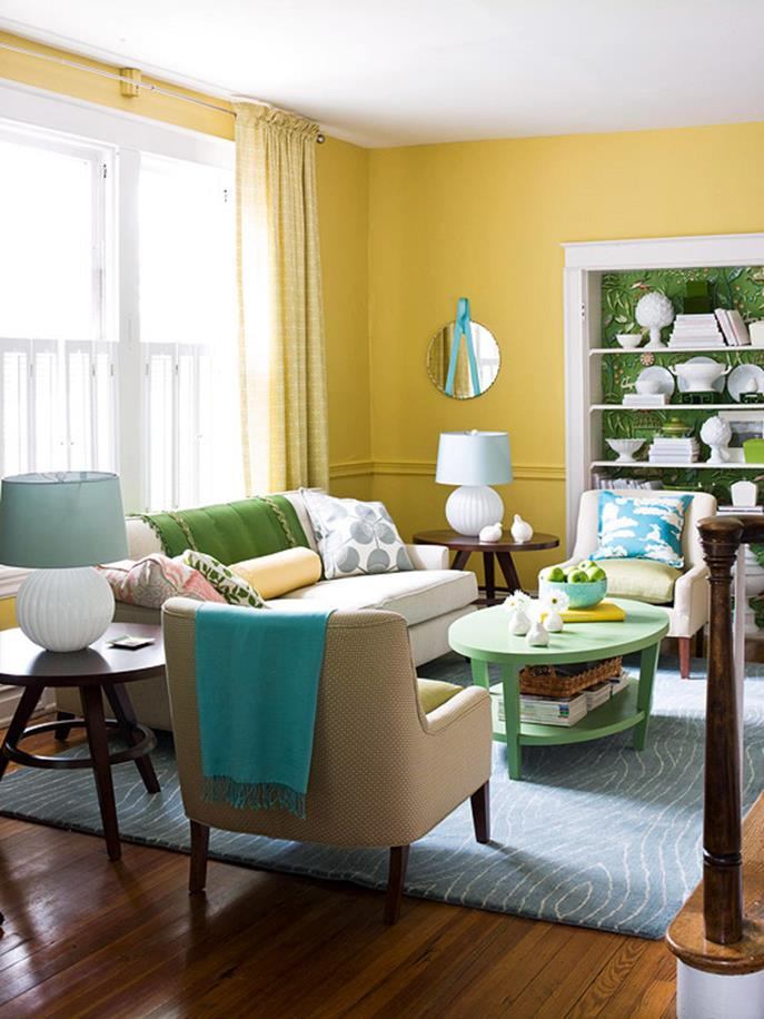 Yellow Cottage Living Room Decorating Ideas 19