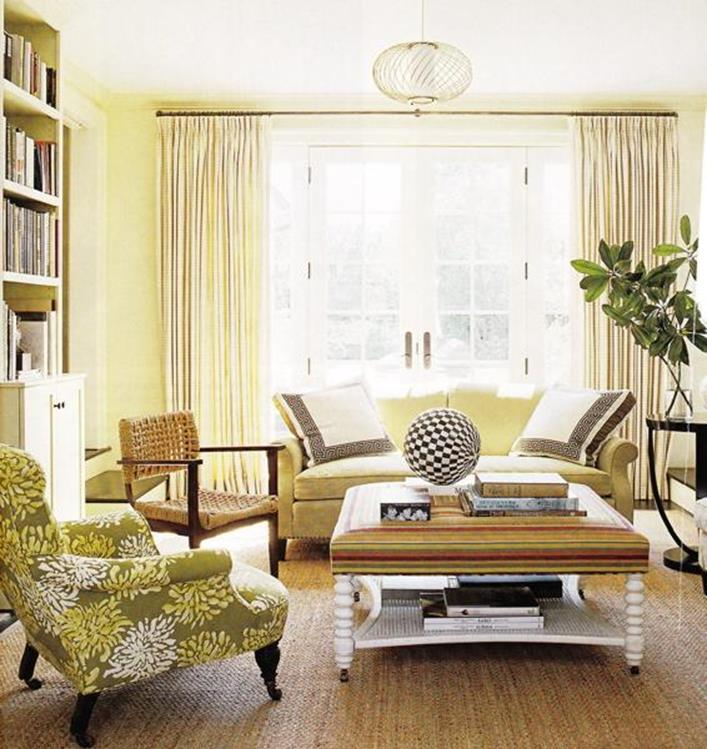Yellow Cottage Living Room Decorating Ideas 3