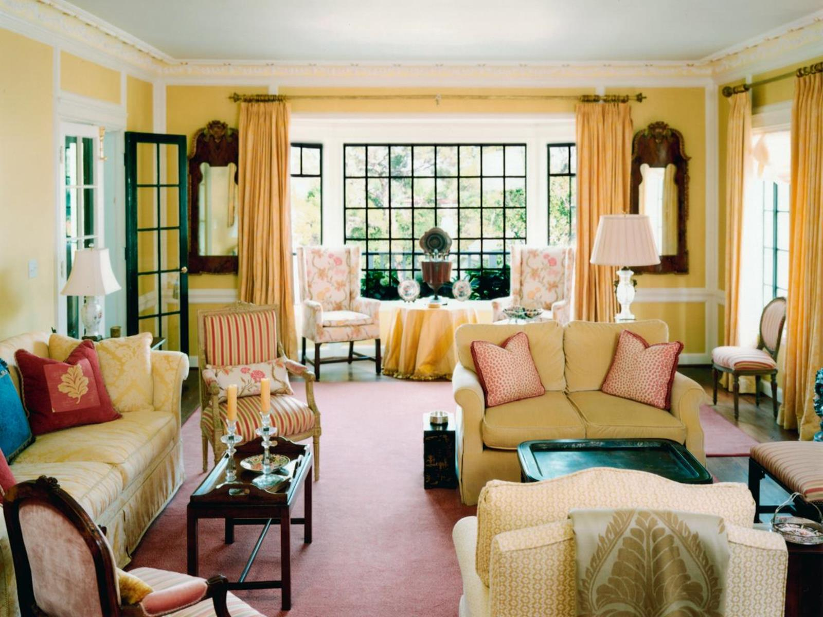 Yellow Cottage Living Room Decorating Ideas 36