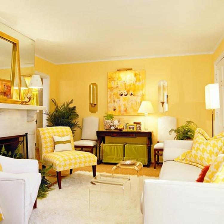 Yellow Cottage Living Room Decorating Ideas 4