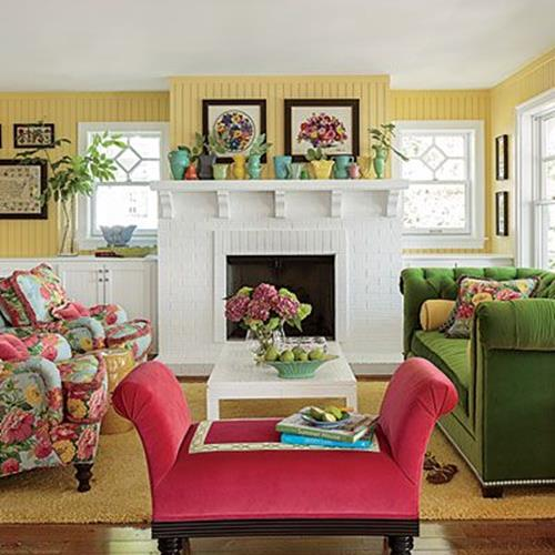 Yellow Cottage Living Room Decorating Ideas 7