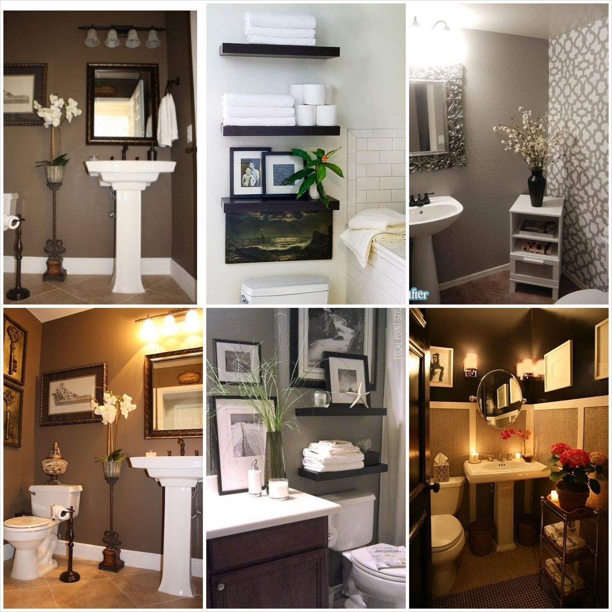 Bathroom Shelves Decorating Ideas 62 Small Half Bathroom Decorating Ideas to Pin Pinterest Small Half Bathroom Cardkeeper 8